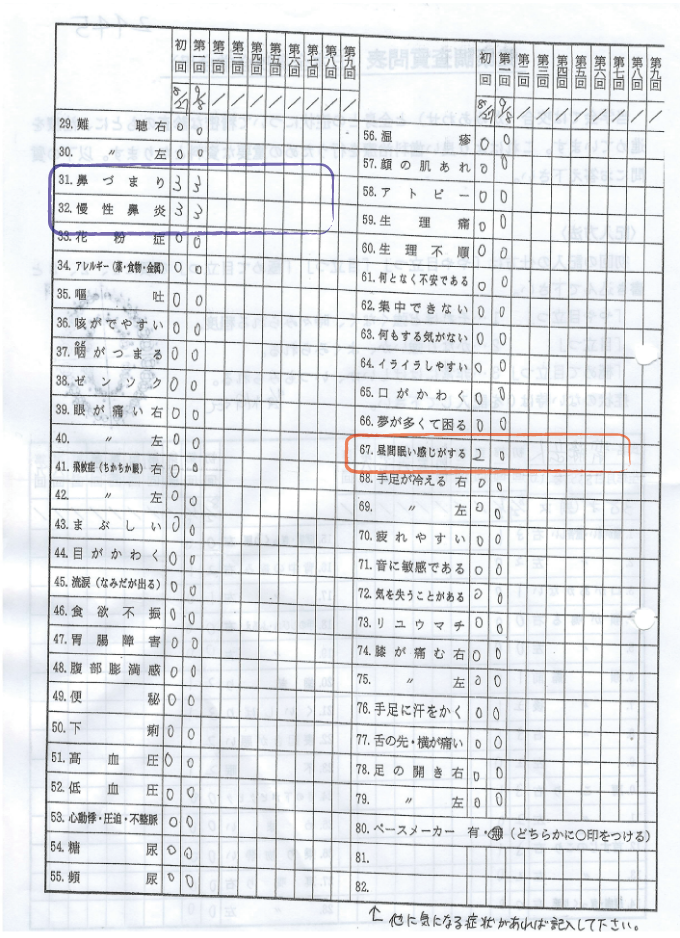 健康調査委質問票b